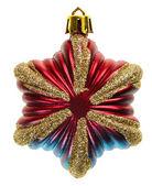 Weihnachtsstern dekoration, isoliert — Stockfoto