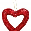 Valentine&#039;s day decoration heart, isolated on white - Stock Photo