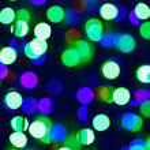 Green bokeh circle background (illumination garland decoration) — Stock Photo #13476926