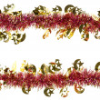 Christmas artificial tinsel decoration — Stock Photo