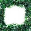 Royalty-Free Stock Photo: Christmas wreath framework, isolated on white