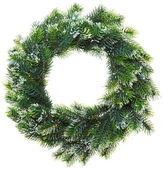 Christmas wreath, isolated on white — Stock Photo