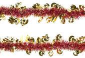 Christmas artificial tinsel decoration — Stock Photo