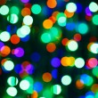 Bokeh circle background (illumination garland decoration) - Stock Photo