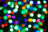 Bokeh circle background (illumination garland decoration) — Stock Photo