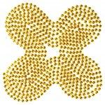Christmas beads garland decoration pattern — Stock Photo