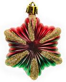 Estrela da decoração de Natal, isolado no branco — Fotografia Stock