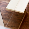 Wall mirror and bar tabletop top view, interior detail — Stock Photo #21882901