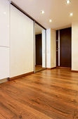 Modern minimalism style corridor interior with sliding-door mirr — Foto Stock