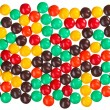 Multicolor bonbon sweets (ball candies) food background - Stock Photo