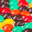 Multicolor bonbon sweets (ball candies) food background, closeup - Stock Photo