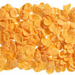Corn flakes food ingredient background — Stock Photo