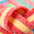 Multicolor gummy candy (licorice) sweets closeup food background — Stock Photo