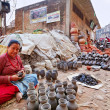 BHAKTAPUR, NEPAL - APRIL 5: Bhaktapur pottery market on April 5, — ストック写真