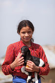 NAGARKOT, NEPAL - APRIL 5: Portrait of young unidentified Nepale — Stock Photo