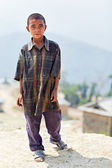 NAGARKOT, NEPAL - APRIL 5: Portrait of little unidentified Nepal — Stock Photo