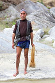 SALLAGHARI, NEPAL - APRIL 4: Portrait of unidentified Nepalese f — Stock Photo