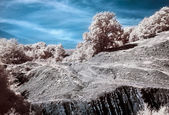 Infrared (IR) Belbek canyon landscape — Stock Photo