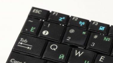 Melting computer keyboard (damaged) — Vidéo