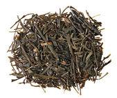 Gyokuro green tea heap isolated on white — Stock Photo