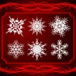 Elegant set of snowflakes. — Stock Vector