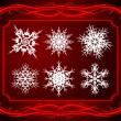 Elegant set of snowflakes. — Stock Vector #13198610