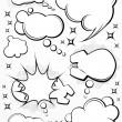 Comic style speech bubbles collection — Stock Vector