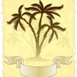 Decorative card with palm trees. — Stock Vector