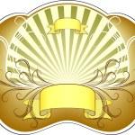 Golden label. — Stock Vector