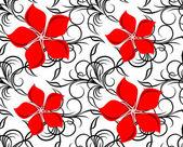 Fondo floral transparente. — Vector de stock