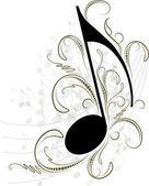 Nota de la música para su diseño. — Vector de stock
