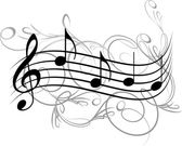 Music notes for your design. — Stock Vector