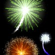 Fireworks - Imagens vectoriais em stock