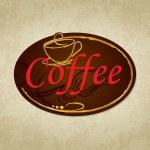 Coffee label. — Stock Vector