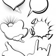 Comic style speech bubbles collection — 图库矢量图片