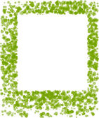 Decorative green frame — Stock Vector