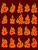 Collection of fires. — Stock Vector
