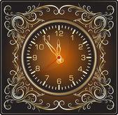 Elegant klocka i vintage stil — Stockvektor