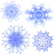Set of four snowflakes  — Stock Vector