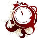 El reloj en un estilo vintage. ilustración vectorial. — Vector de stock