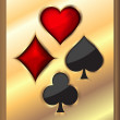 Card elements on gold background. Vector illustration. — Stock Vector #23931521