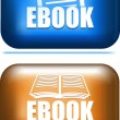 Pair of ebook icon button. Vector illustration. - Stock Vector