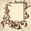 Vintage frame on old textured paper. Vector illustration. - Vettoriali Stock