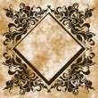 Vintage frame on aged background. Vector illustration. - Stock Vector