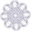 Vector snowflake — Stock Vector