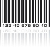 Bar code label with reflection. Vector illustration. — Stock Vector