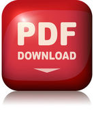 Pdf download button. Vector illustration. — Stock Vector