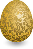 Easter golden egg, Happy Easter — Stok Vektör