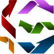Colored arrows — Stock Vector