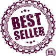 Best seller rubber stamp. — Stock Vector